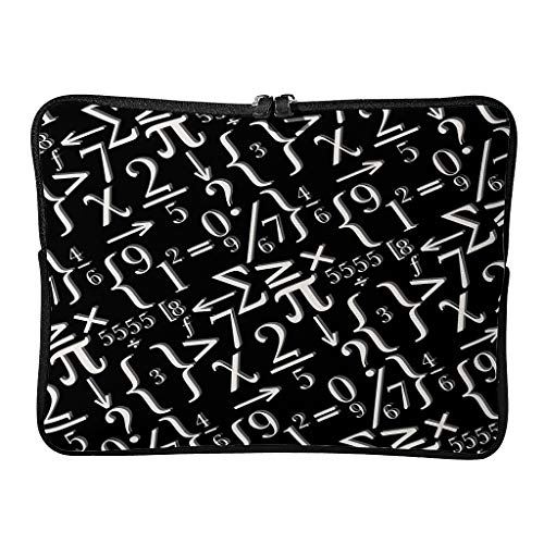 Regular Funny Math White Laptop Bags Novelty Wear-Resistant - White Chalk Tablet Cases Suitable for Business White 13 Zoll