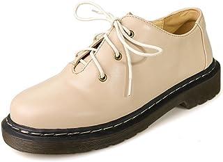 91372ec9b17 T-JULY Women s Vintage Oxfords Shoes - Retro Lace-up Low Heel Round Toe