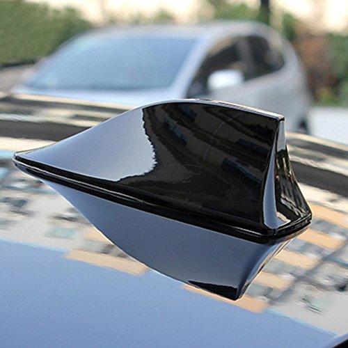 Demiawaking Antenna a Forma di Pinna di Squalo per Autoradio Antenna Decorativa per Auto (Nero)