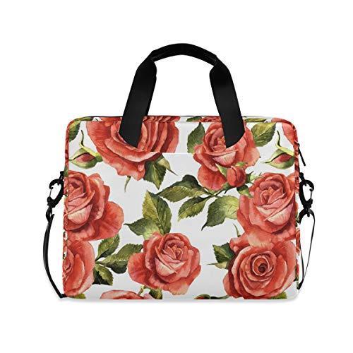 ZZCDD Wildflower Rose Laptop Messenger Bag Durable Laptop Sleeve Bag Multifunctional Briefcase Carrying Case 15.7 inch Notebook Computer Tablet Laptop Shoulder Bag