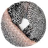 Gloop Bufanda para mujer con estampado de leopardo, rayas de colores, pañuelos suaves rosa negro Talla única