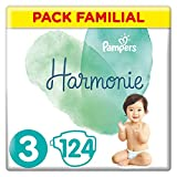 Pampers Couches Harmonie Taille 3 (6-10kg) 0% de compromis, 100%...