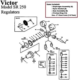 Victor 250-80-540 Oxygen Regulator Rebuild/Repair Parts Kit w/ Diaphragm