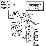 Victor 250-80-540 Oxygen Regulator Rebuild/Repair Parts Kit w/Diaphragm