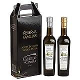 Castillo de Canena Reserva Familiar Picual y Arbequina, Aceite de oliva virgen extra - 2 Botellas de 500 ml