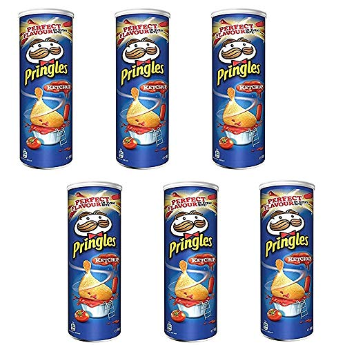 6x Pringles Perfect Flavour Ketchup Patatine 160g Kartoffel chips