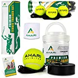 Ahari Unlimited Premium Tennis Trainer Set, Pro Tennis Rebounder with Metal Base in a...