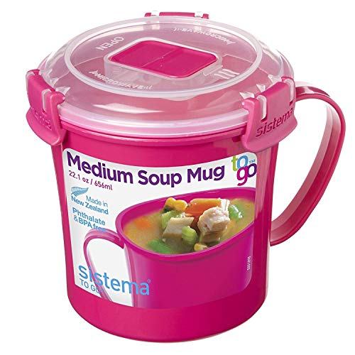 Sistema Microwave Suppentasse, 656 ml, pink