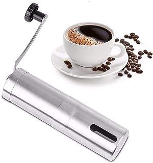 調整可能な設定の手動コーヒーグラインダー、Aeropress、ドリップコーヒー、エスプレッソ、フレンチプレス用のステンレス鋼の全粒豆のバリコーヒーグラインダー