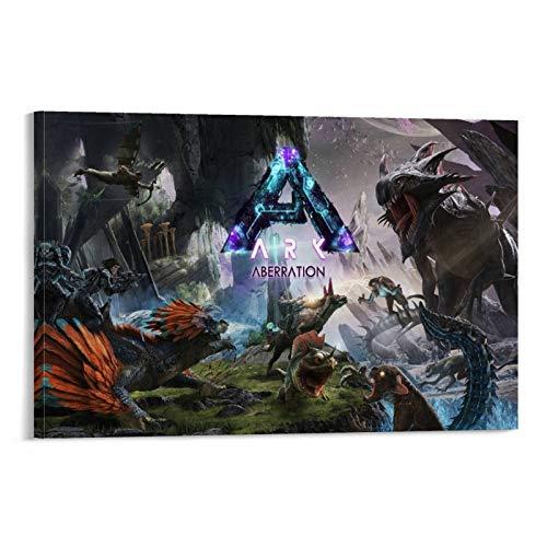 xingqier Ark Survival Evolution Leinwand-Kunst-Poster und Wandkunstdruck, modernes Familienschlafzimmer, 50 x 75 cm
