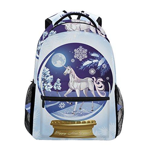 U LIFE Backpack School Bags Laptop Casual Bag for Boys Girls Kids Men Women Cute Unicorn Best Wish Birthday