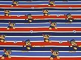 Swafing Paw Patrol Nano Softshell Stoff Chase, Streifen,