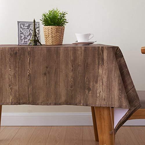 Mantel poliéster impresión grano madera, cuadrado