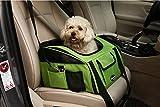 Plegable Portador de viaje del Asiento de coche para Mascotas Perros y Gatos, Verde