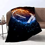 Lmorey 60 x 80 Inches Throw Blanket American Football Sport Pattern Soft Warm Blanket for Bed Couch Sofa Lightweight Travelling Camping Comfort Home Decoration for All Season