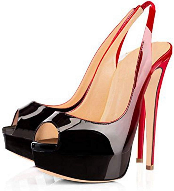 Women Summer High Heel Sandal Red Thin High Heel shoes Peep Toe Black Elegant Heeled Sandals