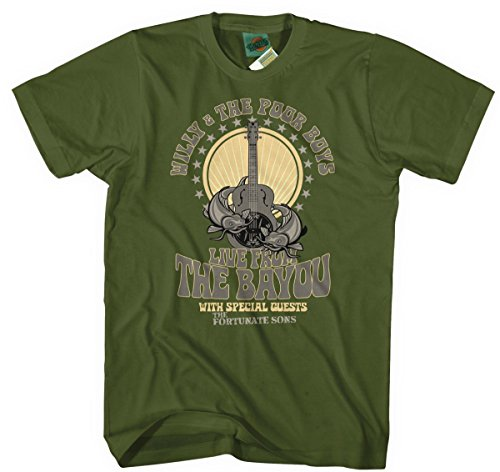 Creedence Clearwater Revival Inspired Willy & The Poor Boys, Herren T-Shirt, Large, Military Green
