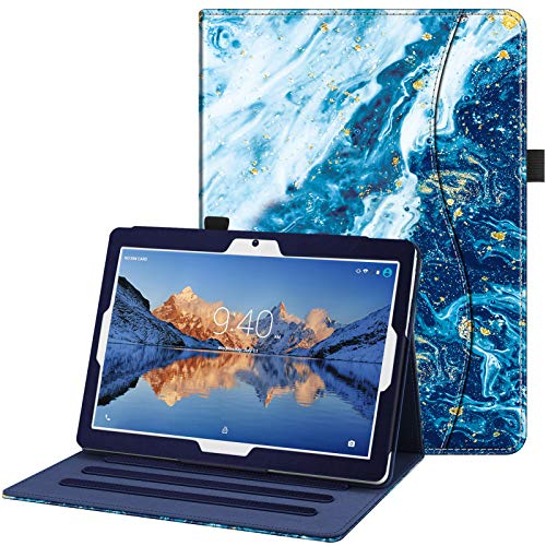 FINTIE Funda [Multiángulo] para Tablet 10 Pulgadas YOTOPT, Compatible con BEISTA, Dragon Touch K10, YUNTAB K107/K17, KXD, ibowin, SANNUO, TOSICDO, Azul Océano