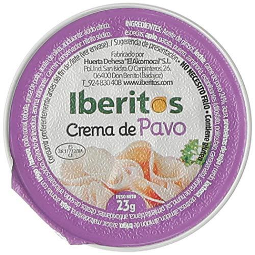 Iberitos - 18 Monodosis de Crema de Pavo - 23 gr