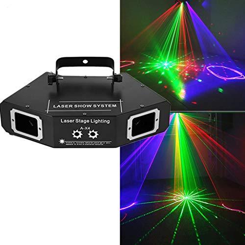 25 Patterns Full Color Scanner Projektor DMX Stadiums-Lichteffekt DJ-Disco-Bar Partei-Feiertag Tanz Weihnachtsbeleuchtung Bühnenlampen 0321