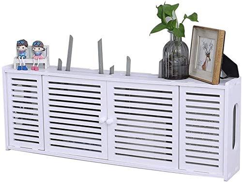 LUYIYI Creativa Wireless Router de Almacenamiento en anaquel - Panel de Madera for el hogar de plástico Multimedia Bloqueo de la Caja de conexión Wi-Fi Piscina Rack de Almacenamiento de estantería