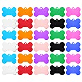 yiwoo 30 PCS Pet ID Tag Bone Shape, Aluminum Alloy for Dogs and Cats Pet ID Tag(38mm)