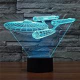 SmartEra Star Trek Battleship 3D Optische Täuschung Mehrfarbig ändern Berühren Sie Botton...