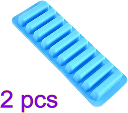 UPKOCH Silicone Ice Cube Tray Ice Cube Mold 10 Lattices Sticks for Bottled Beverage Water Bottle Cooking Tool 2pcs (Blue)