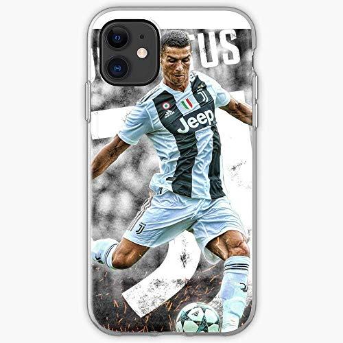 Jinfugongmao Compatible con iPhone 6 6s 7 Plus 8 Plus X XS XR 11 Pro MAX SE 12 Pro MAX Funda Ronaldo Cristiano Cajas del Teléfono Cover