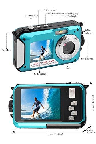 Camara Acuatica 1080P Camara acuatica Sumergible Full HD Grabadora ...