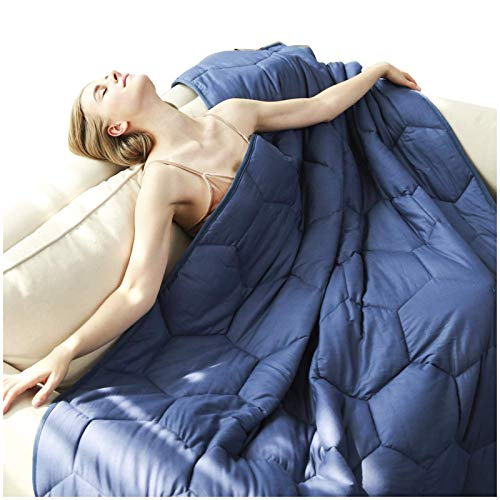 YEMYHOM 100% Cotton Weighted Blanket Adult Bed Heavy Blankets with Glass Beads (48