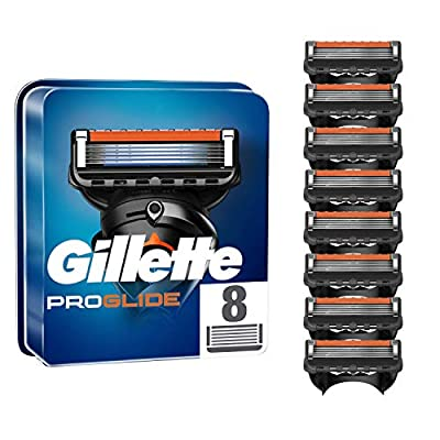 Gillette ProGlide Men's Razor Blade Refills, 8 Count, with 5 Anti-Friction Blades for a Close, Long-Lasting Shave