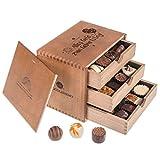 ChocoGrande - Alles Gute zum Geburtstag - 30 handgemachte Pralinen in einem Holzkästchen - Schokolade - Geschenkidee - Geburtstagsgeschenk