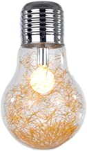 Global Light Bulb Light Bulbs E27 220V Decorative Glass Lamp Fairy Lights for Bar Cafes Bathroom Bedroom Living Room (Golden)