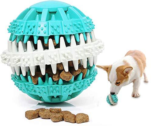 IYOYI Aktualisiert Hundeball mit Zahnpflege, Hunde Snackball gegen Zahnstein & Zahnbeläge, Naturkautschuk Zahnpflegeball, Intelligentes Hundespielzeug