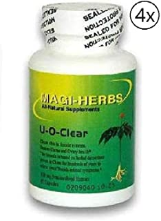 U-O-Clear Assure Ovary & Uterus Health 500 mg (4 Bottle) 60 Capsules Relieves Symptoms Caused by Clots or Abnormal growths