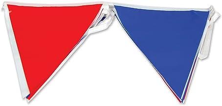 Bristol PG005 - Banderines triangulares, color rojo, blanco y azul, talla única