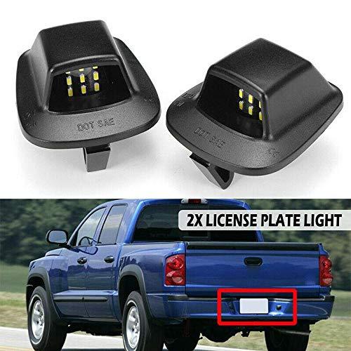 Overun Bright-TECH Series 2pcs 9 SMD Replacement LED License Plate Light Lamp Designed for 1997-2011 Dodge Dakota Mitsubishi Raider