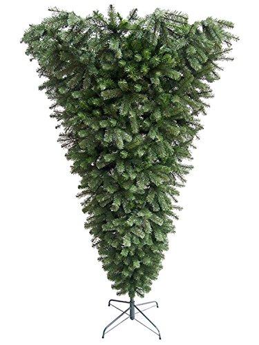 Northlight 7.5' x 60' Upside Down Spruce Medium Artificial Christmas Tree - Unlit