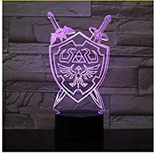 Sykdybz The Legend of Zelda 3D Night Lights Table Lamp Anime Game Breath of The Wild Visual Illusion 3D Led Luces Navidad