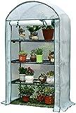 Knoijijuo Paseo por El Efecto Invernadero, 4-Tier Mini Invernadero, para El Cultivo De Semillas, Plántulas, Plantas En Macetas, Que Tiende Jardín Jardinería De Interiores Al Aire Libre