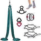 SAHWIN Columpio De Yoga 8X2,8M, Columpio De Yoga Aéreo, Swing Sling Inversión, para Pilates Aerial Yoga(Calcetines Gratis)