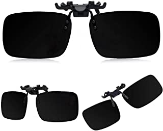 Polarized Day Night Vision Flip up Clip on Lens Driving Sunglasses L Size - ETH-P2