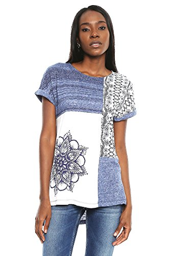 Desigual TS_SARA, Camiseta para Mujer, Azul (Graystone 5154), X-Small