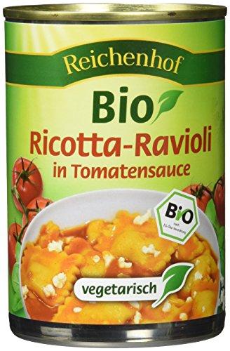Reichenhof Ricotta-Ravioli in Tomatensauce, Fertiggericht vegetarisch, 6er Pack (6 x 400 g)