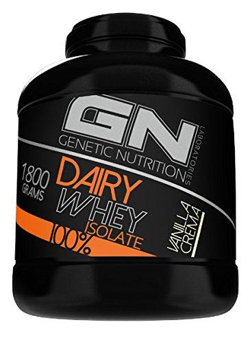 GN Laboratories 100% Dairy Isolate mikrofiltriertes Wheyprotein Isolat Protein Eiweiß Proteinshake Eiweißshake Bodybuilding 1800g (Cookies & Cream - Schokoladenkeks)