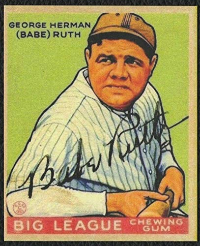 1933 Goudey BABE RUTH #181 with Facsimile Autographed front New York Yankees - REPRINT
