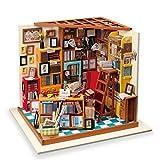 TOYSBBS Miniatur Puppenhaus Kit DIY Holz Bibliothek Haus Modell für Mädchen und Jungen Kinder 14...