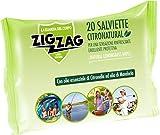 Zig Zag, Repellente, Antizanzare, Salviette Citronatural, al profumo di citronella, contiene olii...