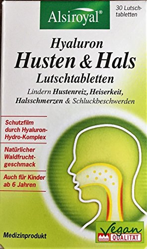 Alsiroyal Hyaluron Husten & Hals Lutschtabletten (3 x 30 Lutschtabletten)